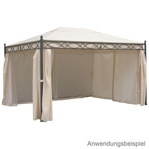 Ersatzdach Pavillon Rivoli ecru 300x400 cm PVC
