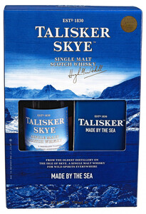 Talisker Skye Single Malt Scotch Whisky mit 2 Gläsern