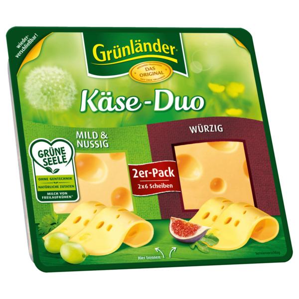 Grünländer Käse-Duo Scheiben 120g
