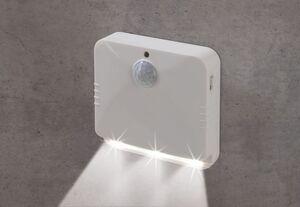 EASYmaxx LED-Sensorlicht eckig 2er-Set 4,5V weiß mit Bewegungsmelder
