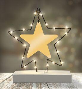 Dekor LED Figuren mit Betonständer - Stern