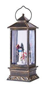Dekor LED Schneelaterne mit Spieluhr - Schneemann