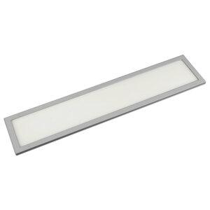 LED-Unterbauleuchte - silber - 45,7x10 cm kaltweiß