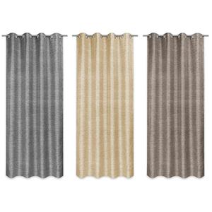 Ösenvorhang - grau-braun-beige - sortiert - 140x245 cm