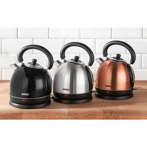 Powertec Kitchen Retro-Edelstahl-Wasserkocher ca. 1,8 Liter