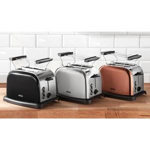 Powertec Kitchen Retro-Edelstahl-Toaster