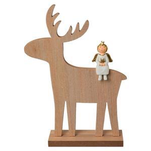 Dekohirsch Henry aus Holz