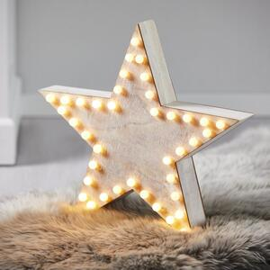 LED-Dekostern Naturfarben/Weiß H ca.60cm 'Natale'