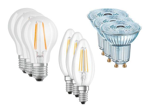 osram 3 led leuchtmittel von lidl ansehen. Black Bedroom Furniture Sets. Home Design Ideas
