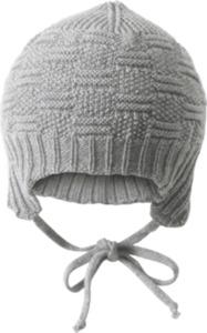 ALANA Baby Mütze, Gr. 46/47, in Bio-Schurwolle, grau, für Mädchen und Jungen