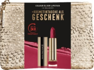 Max Factor Weihnachtsset Colour Elixir Lippenstift Mulberry + Tasche