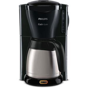 Philips Thermo-Kaffeeautomat HD7544/20 Café Gaia, schwarz/silber, Edelstahl/schwarz