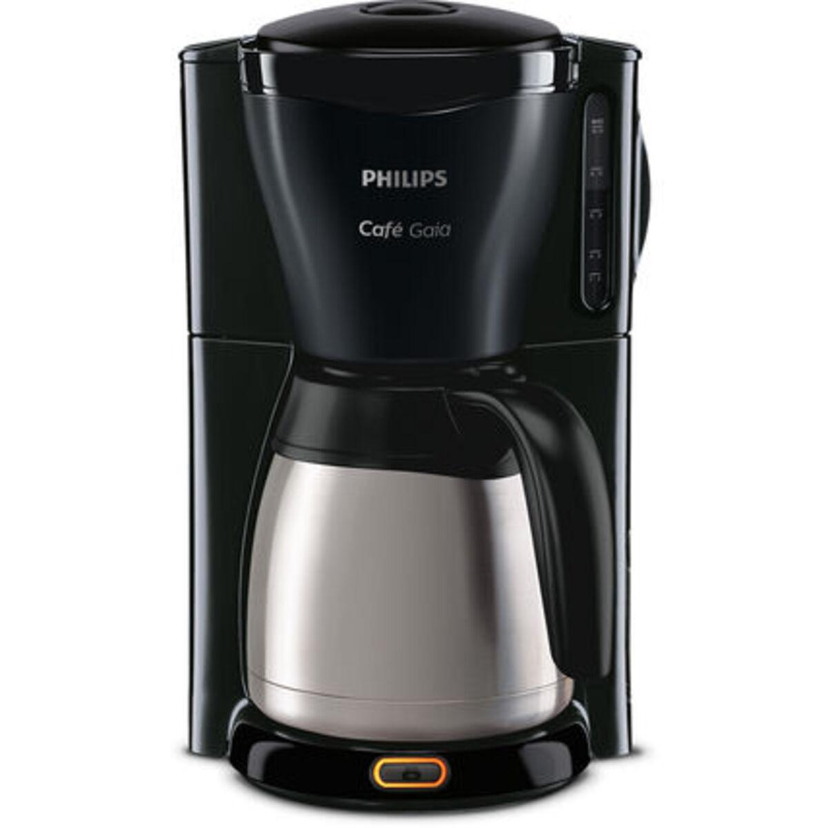 Bild 1 von Philips Thermo-Kaffeeautomat HD7544/20 Café Gaia, schwarz/silber, Edelstahl/schwarz