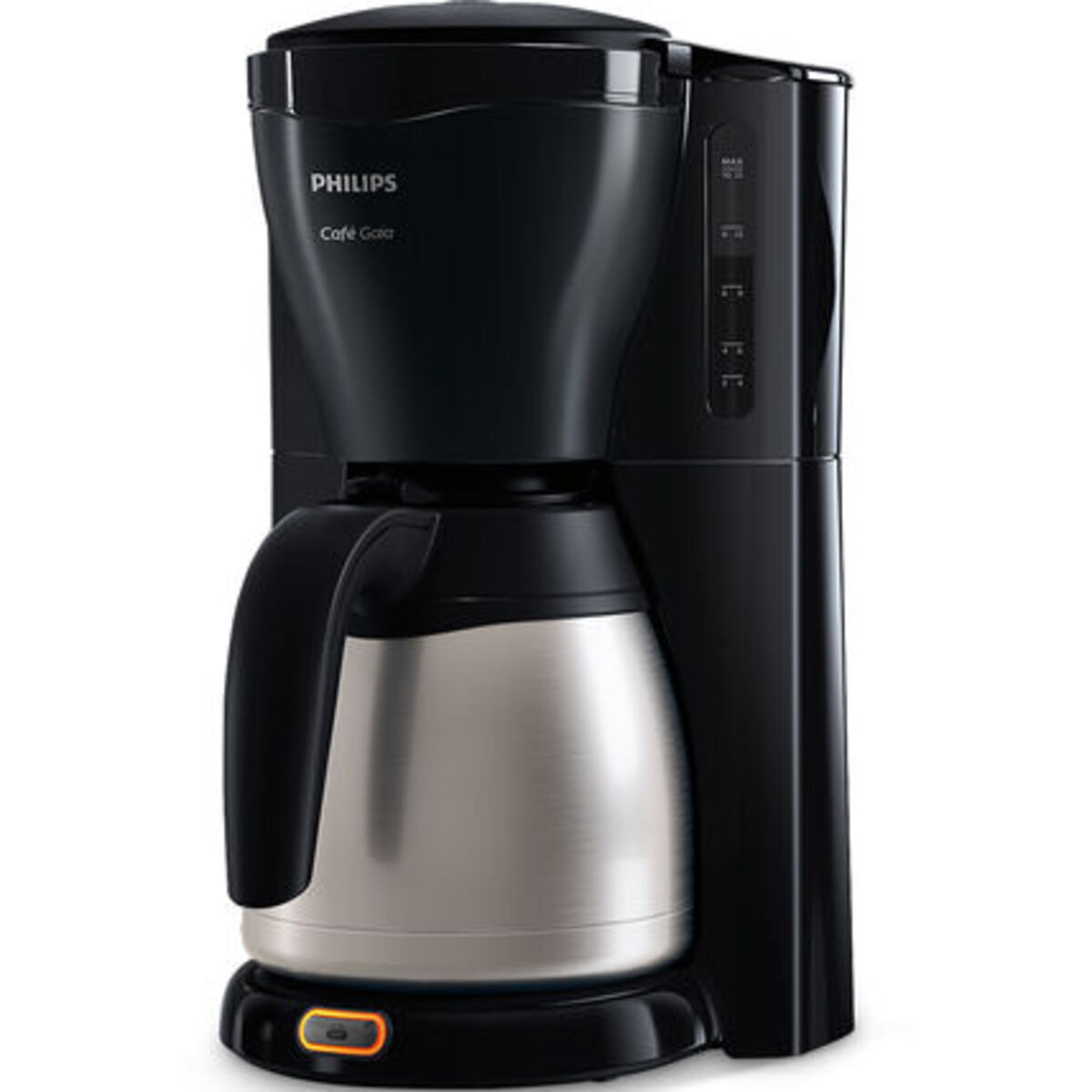 Bild 2 von Philips Thermo-Kaffeeautomat HD7544/20 Café Gaia, schwarz/silber, Edelstahl/schwarz