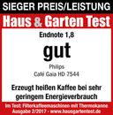 Bild 3 von Philips Thermo-Kaffeeautomat HD7544/20 Café Gaia, schwarz/silber, Edelstahl/schwarz