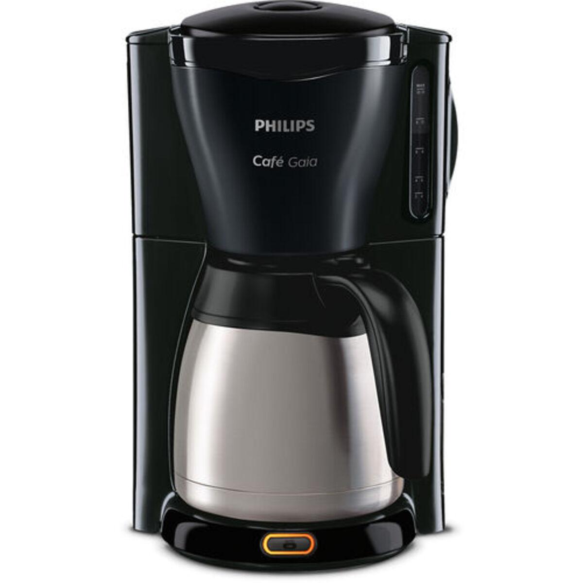 Bild 4 von Philips Thermo-Kaffeeautomat HD7544/20 Café Gaia, schwarz/silber, Edelstahl/schwarz