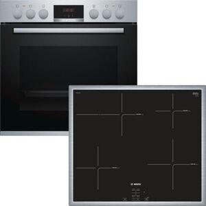 Bosch HND415LS60 Induktions-Einbauherd-Set, A