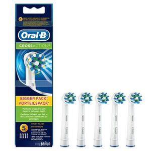 Oral-B Ersatz-Aufsteckbürsten CrossAction, 5er Pack