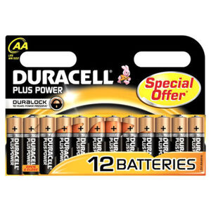 Duracell Batterie AA Mignon Plus Power MN1500/LR06, 12er Pack