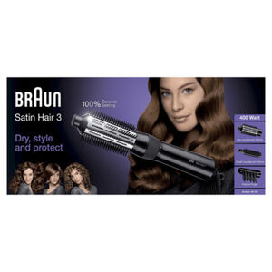 Braun Warmluft-Lockenbürste Satin Hair 3 AS 330 Volume & Style, schwarz