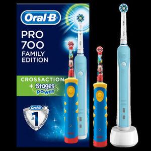 Oral-B Elektrische Zahnbürste PRO 700 Cross Action inkl. Kinderzahnbürste AdvancePower Kids 950