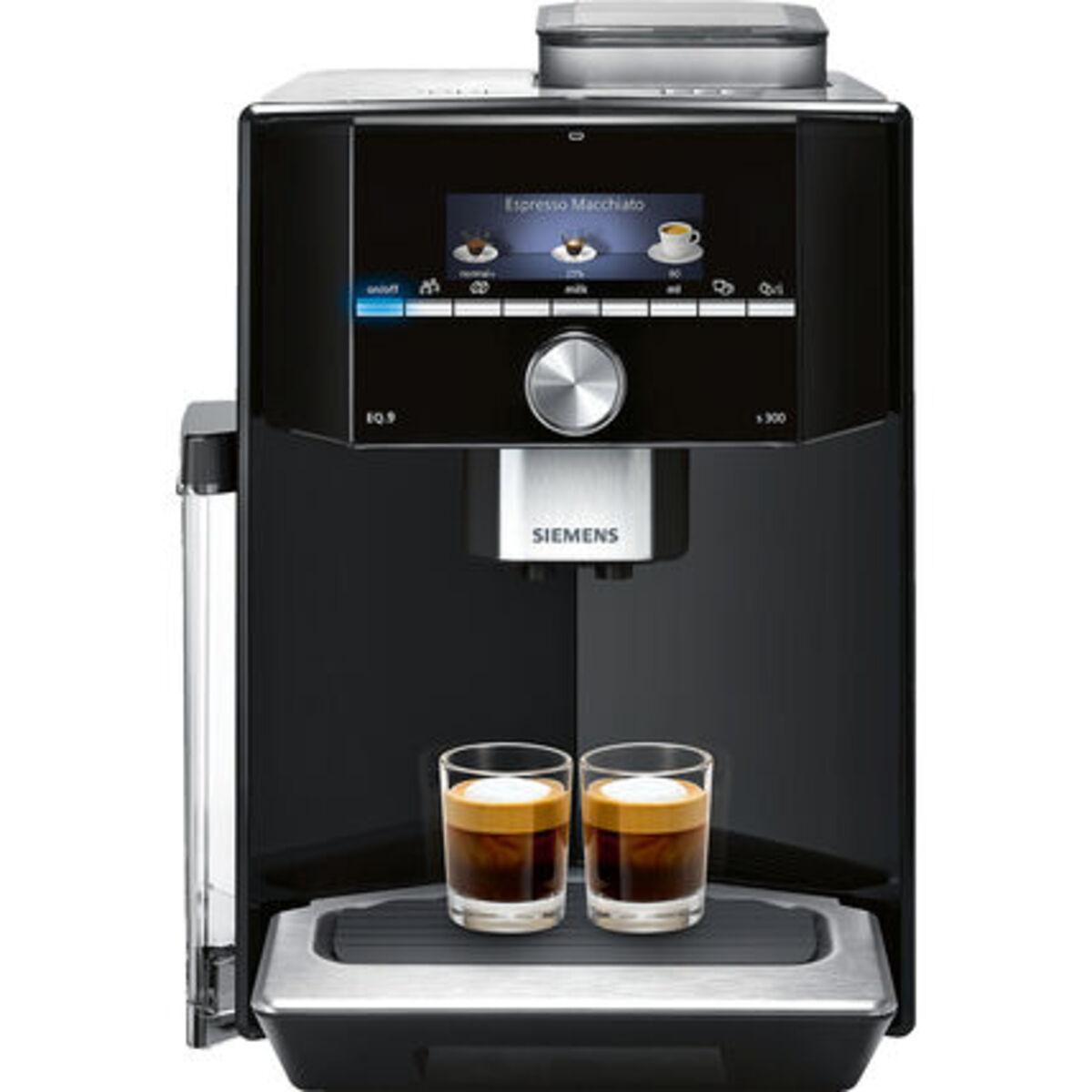 Bild 1 von Siemens Kaffeevollautomat EQ.9 s300, TI913539DE, schwarz/edelstahl