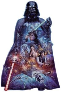 Ravensburger Puzzle - Silhouette Puzzle - Darth Vader, 1098 Teile
