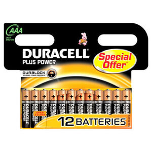 Duracell Batterie AAA Micro Plus Power MN2400/LR03, 12er Pack