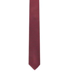 Olymp Krawatte, Seide, geometrisches Muster, bordeaux