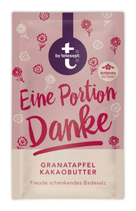 Tetesept Badesalz Eine Portion Danke Granatapfel Kakaobutter 60 g