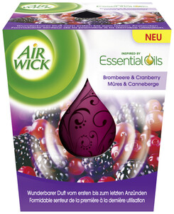 Airwick Wohlfühl-Duftkerze Brombeere & Cranberry 1 Stück