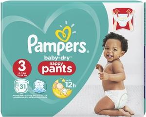 Pampers Baby Dry Midi Pants Gr.3 6-11 kg 31 Stück