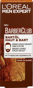 Loreal Men Expert Barber Club Bartöl Haut & Bart 30 ml