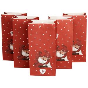 Geschenktüten für Adventskalender (24 Stück, rot)