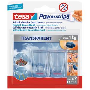 tesa® Powerstrips transparent Deco Haken Large