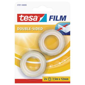 Tesafilm® Doppelseitig , 2 Rollen (7,5 m x 12 mm)