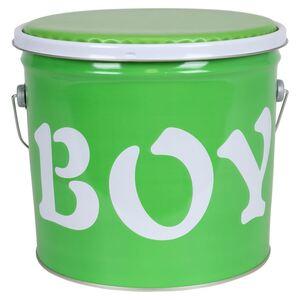 Metall-Sitztonne Boy Grün