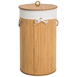 Wäschekorb mit Wäschesack rund