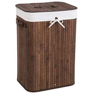 Wäschekorb mit Wäschesack eckig braun 72 L
