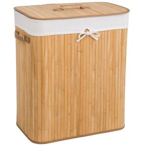 Wäschekorb mit Wäschesack eckig beige 100 L