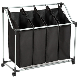 Wäschesortierer mit 4 Wäschetaschen
