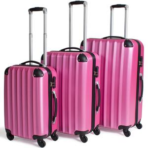 Hartschalenkofferset 3-tlg. pink