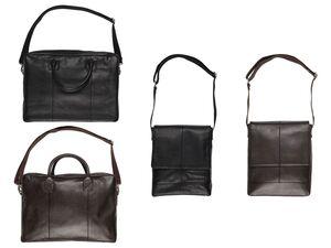 LIVERGY® Herren Leder Laptoptasche / Messengerbag