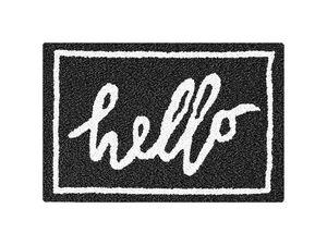 """Kleine Wolke Badteppich """"Hello"""", schwarz-weiß, 60 x 90 cm"""