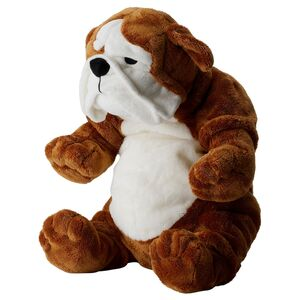 KLAPPAR                                Stofftier, Bulldogge braun, weiß