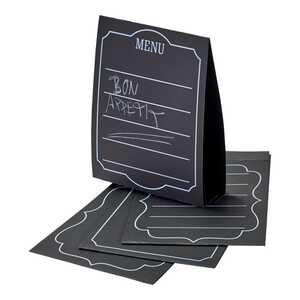 Schreibkarte mit Tafellack, ca. 7x22cm, 4er Pack
