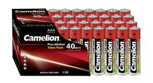 Camelion Alkaline Plus Batterien – 40 Stück im Sparpack Camelion