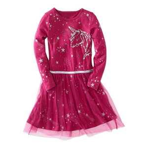 Mädchen-Kleid mit toller Pailletten-Applikation