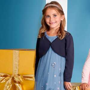 Mädchen-Kleid und Bolero mit glitzernden Pailletten
