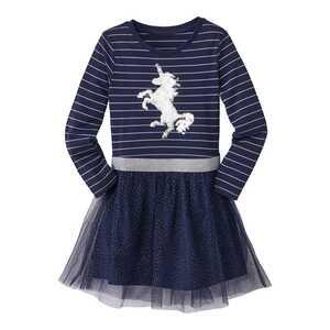 Mädchen-Kleid mit angesagten Wendepailletten